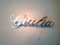 ALFA ROMEO GIULIA SUPER SCRITTA CRUSCOTTO DASH BADGE