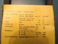ALFA ROMEO GIULIA 1300 1600 SUPER 5 PZ CINTA DINAMO BOSCH 910416-1147