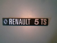 RENAULT 4 L SCRITTA POSTERIORE REAR BADGE