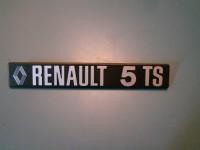 RENAULT 4 L SCRITTA RENAULT 5 TS SCRITTA POSTERIORE REAR BADGEREAR BADGE