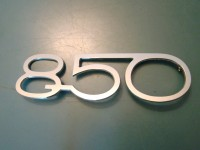 FIAT 850 ABARTH SCRITTA POSTERIORE REAR BADGE