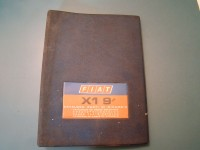 FIAT X1-9 X-1/9 X/1.9 CATALOGO RICAMBI PARTS CATALOGUE MANUAL