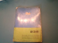 FIAT 238 CATALOGO RICAMBI PARTS CATALOGUE MANUAL