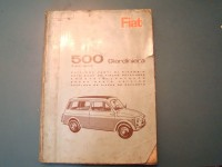 FIAT 500 GIARDINIERA CATALOGO RICAMBI PARTS CATALOGUE MANUAL