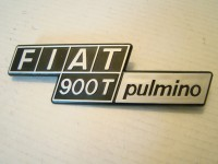FIAT 900T 900 T PULMINO SCRITTA POSTERIORE REAR BADGE
