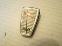 SIMCA 1000 scritta franco ragni badge