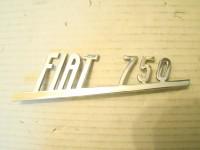 FIAT 750 SCRITTA POSTERIORE REAR EMBLEM