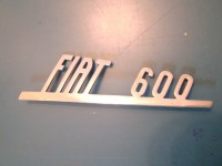 FIAT 600 57 63 SCRITTA POSTERIORE REAR BADGE