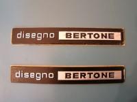 ALFA ROMEO MONTREAL SCRITTE BERTONE BADGES