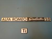 ALFA ROMEO GIULIETTA TI 2.0 SCRITTE POSTERIORI REAR BADGES