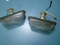 SIMCA 1000 faretti luci anteriori in vetro glass front lights