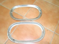 OPEL CERCHI FARO ALLUMINIO HEADLIGHTS RINGS TRIMS