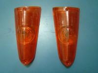 FORD ANGLIA 60 65 PLASTICHE FRECCE POSTERIORI REAR ORANGE LENSES