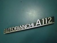 AUTOBIANCHI A112 SCRITTA IN METALLO nuova BADGE EMBLEM
