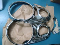INNOCENTI A40 CERCHI FARO CARELLO HEADLIGHTS RINGS