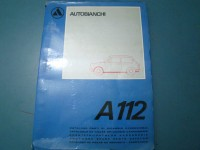 AUTOBIANCHI A112 CATALOGO RICAMBI PARTS CATALOGUE MANUAL
