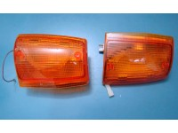FIAT UNO FRECCE ANTERIORI ARANCIO TURN LIGHTS BLINKERS