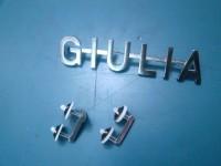 ALFA ROMEO GIULIA TI 1600 SCRITTA POSTERIORE 62 65 rear badge