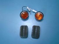 FIAT 850 COUPE SPIDER FRECCE LATERALI turn lights TACCHETTI PEDALI PADS