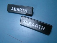 AUTOBIANCHI A112 ABARTH KIT DUE SCRITTE IN PLASTICA PLASTIC EMBLEMS