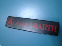 AUTOBIANCHI A112 ABARTH KIT SCRITTA POSTERIORE REAR TAIL EMBLEM