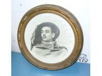 QUADRO FOTOGRAFIA BERSAGLIERE 1915 OLD VINTAGE ANTIQUE RITRATTO PORTRAIT ITALY