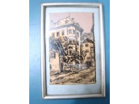 QUADRO CHINA CENTRO STORICO BOLZANO 1931 DRAWING ITALY