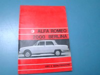 ALFA ROMEO BERLINA 2000 manuale MANUAL HANDBOOK