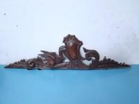 SCULTURA fregio legno sovraporta 1910