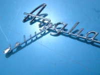 FORD ANGLIA DELUXE 62 66 COPPIA SCRITTE BADGES EMBLEMS