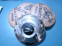 SIMCA 1000 4 quattro borchie ruota hub caps cups STEMMA NERO