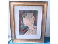 QUADRO DISEGNO GALEONE VINTAGE DRAWING MATITA PENCIL RASATELLI