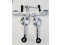 FIAT 850 COUPE kit MANIGLIE ALZAVETRO E GALLETTO HANDLES WINDERS