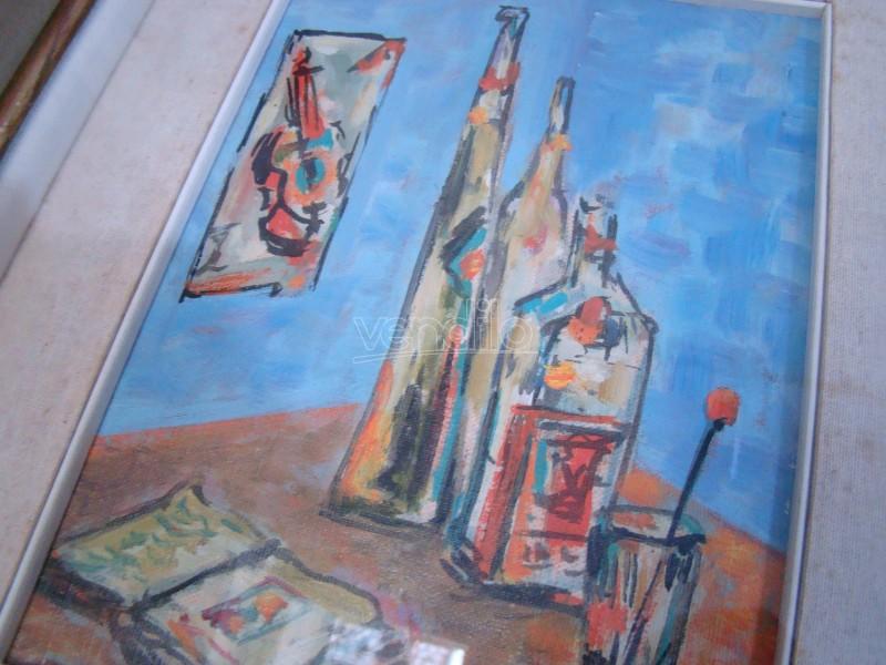 Vintage Painting Su Morta Olio Due Cartoncino Quadri Natura wn0ymOvN8