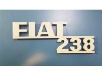 FIAT 238 SCRITTA POSTERIORE IN PLASTICA COLORE AVORIO