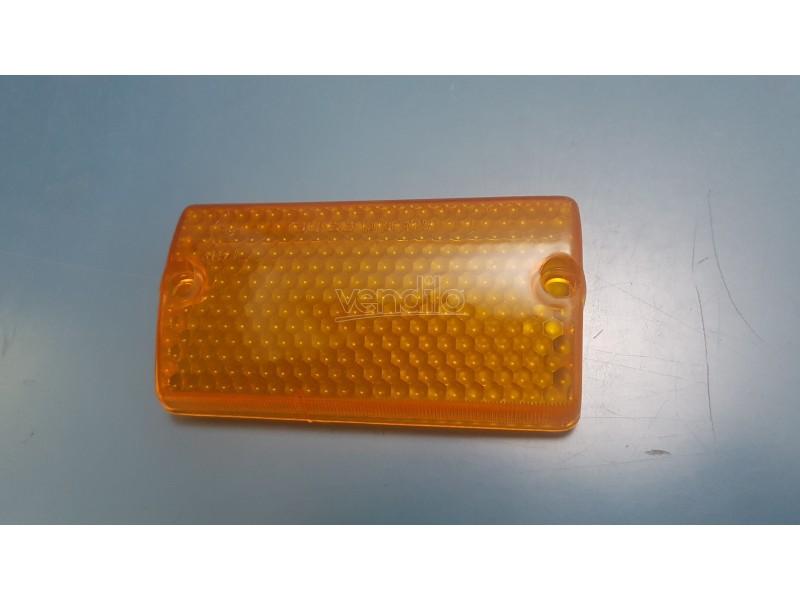 AUTOBIANCHI A112 PLASTICA ANTERIORE DESTRO FRONT LENSES ORANGE
