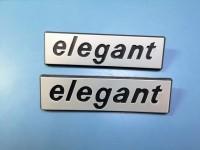 AUTOBIANCHI A112 ELEGANT KIT DUE SCRITTE IN PLASTICA PLASTIC EMBLEMS