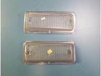FIAT 126 PLASTICHE FANALI ANTERIORI BIANCHE FRONT LIGHTS LENSES