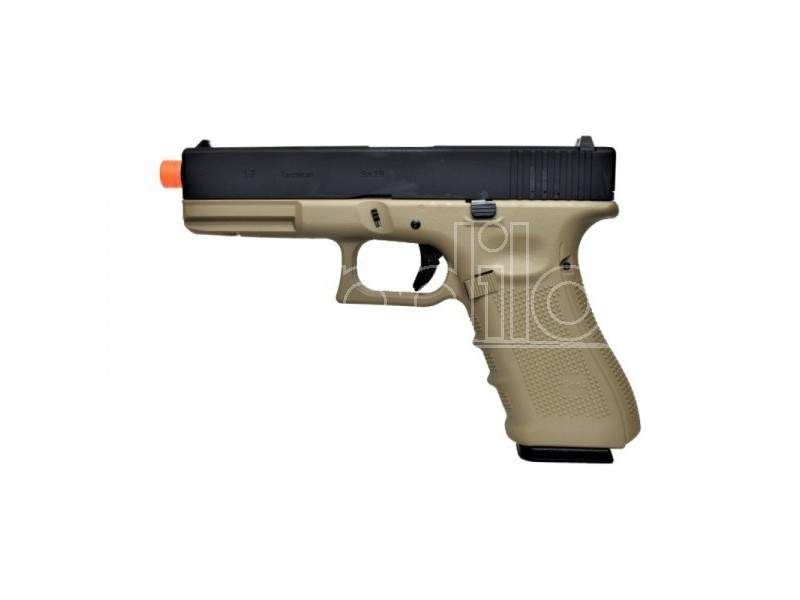 WE PISTOLA A GAS G17 GEN4 NERA E TAN (W057BT) SOFTAIR AIRSOFT