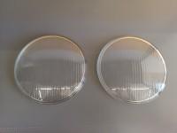 FIAT 500 C TOPOLINO 2 VETRI FARO ANTERIORE HEADLIGHT GLASS CUP