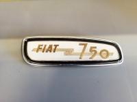 FIAT 750 SCRITTA PLACCA CRUSCOTTO VIGNALE SIATA MORETTI BADGE DASH