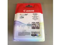 Cartuccia ink-jet Canon PG-510 Nero CL-511 Colore Originale