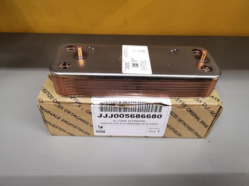 SCAMBIATORE CB16 A 14 PIASTRE ORIGINALE BAXI - COD. JJJ005686680 - 5686680